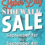 Labor Day Sidewalk Sale