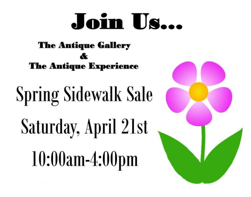 spring sidewalk sale